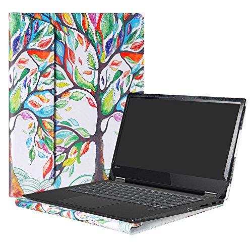Alapmk Specialmente Progettato PU Custodia Protettiva in Pelle Per 14  Lenovo Yoga 530 530-14IKB Yoga 520 520-14ISK 520-14IKB Series Notebook,Love Tree