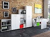 """möbelando Büro-Kombi Komplettset Büroprogramm Arbeitszimmer Möbelset Büromöbel Trio 2345"""" Weiß"""