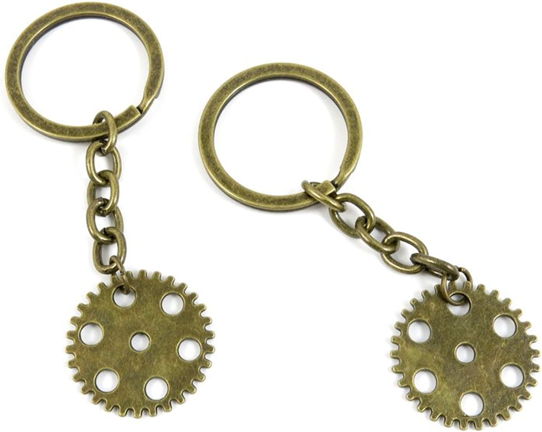 80 PCS Keyring Car Door Key Ring Tag Chain Keychain Wholesale Suppliers Charms Handmade F1UG7 Wheel Gear