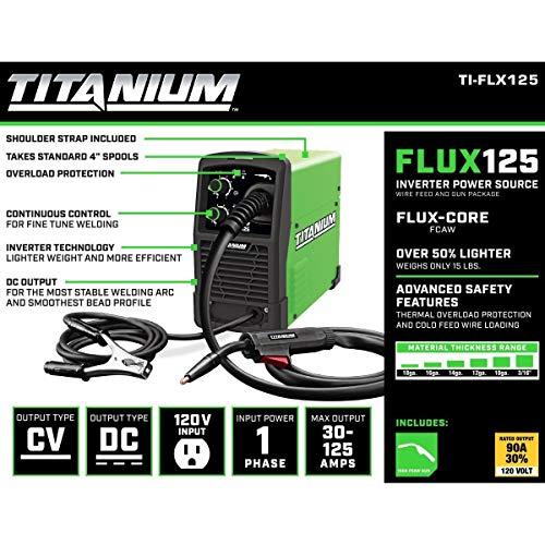 TITANIUM Welding Bundle - Easy-Flux 125 Amp Welder and Blue Flame Auto...
