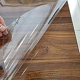 Fantasnight Transparent Klebefolie Selbstklebende Folie 30cm×300cm Tisch Buchfolie Wandschutzfolie Durchsichtige Hitzebeständige Küchenfolie Hochglanz Einbandfolie für Bücher - 2