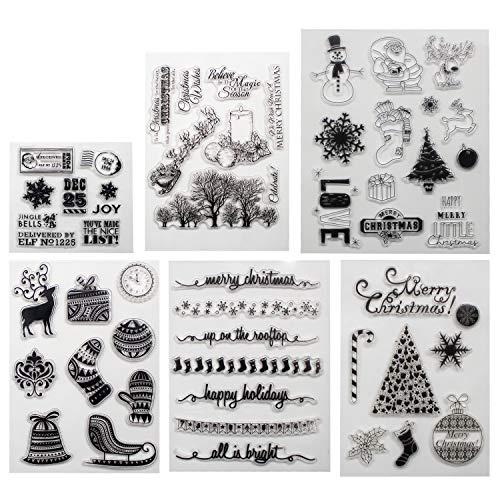 Frohe Weihnachtsthema Klare Stempel zur Herstellung von Kartendekoration und Scrapbooking-Albumpapier (M C)