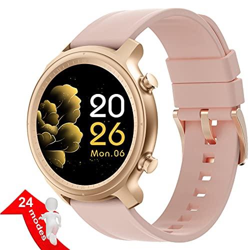 Smartwatch für Damen Herren,Fitness Tracker Uhr Wasserdicht,1,28 Touchscreen Bluetooth Smartwatch mit Anrufen,Schrittzähler,Kalorien,Herzfrequenz für Android IOS