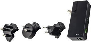 Leitz, Reise USB Wandladegerät und Power Bank, 3000mAh, Complete, Schwarz, 63070095