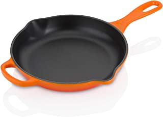 Le Creuset LS2024-232 Signature Iron Handle Skillet, 9-Inch, Flame