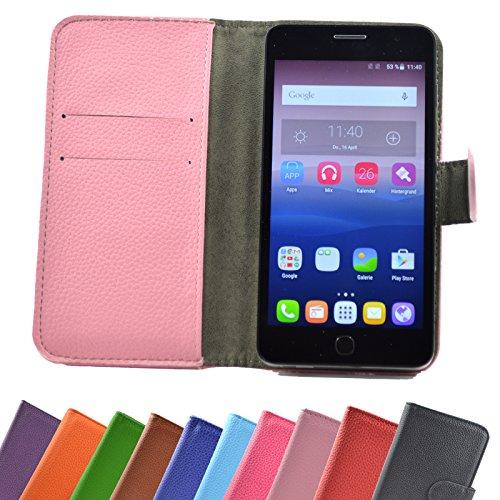 ikracase Hülle für Alcatel One Touch Pop Star 5070D Handy Tasche Case Schutzhülle in Pink-Light