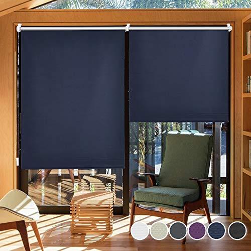 i@HOME Verdunkelungsrollo ohne Bohren 50 x 150 cm Rollos für Fenster & Tür für Hitzeschutz und Sichtschutz Fensterrollo, Seitenzugrollo, Thermorollo für Fenster