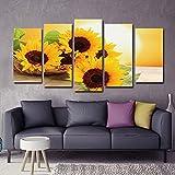 Impresión en lienzo Paisaje de amanecer Pintura de pared Cuadro de girasol Pintura de lienzo Impresiones para la decoración de la sala de estar Imágenes de arte de pared Decoración de dormitorio