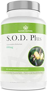 S.O.D. Superoxide Dismutase Supplement, 4,000 IU SOD-Like Activity, Vegan, 60 Capsules, Non-GMO, Gluten Free, Free Radical...