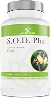 S.O.D. Superoxide Dismutase Supplement, 4,000 IU SOD-Like Activity, Vegan, 60 Capsules, Non-GMO, Gluten Free, Free Radical...
