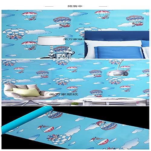 lsaiyy DIY PVC Autoadhesivo Papel Tapiz Sala de Estar Dormitorio TV Espalda niños habitación niño niña Impermeable Pegatinas de Pared Papel tapiz-45CMX10M