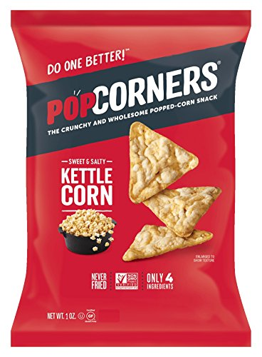 Popcorners Kettle Corn Crunchy and Wholesome Popped-Corn Snacks 1 Ounce (Pack of 40)