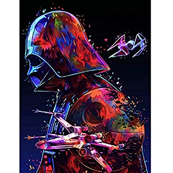 5D Full Drill Diamond Painting Kits for Adults Star Wars Diamond Art Paint with Round Diamonds DIY Paint by Number Kits Gem Art Craft with Crystal Rhinestone Embroidery  13.7x17.7 inch/35x45cm