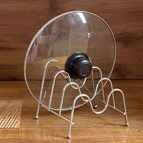 MODEHUAYING 3 Shelfs Multifunction Stainless Steel Bakeware Holder Pantry Cabinet Organizer Pot Lid Rack