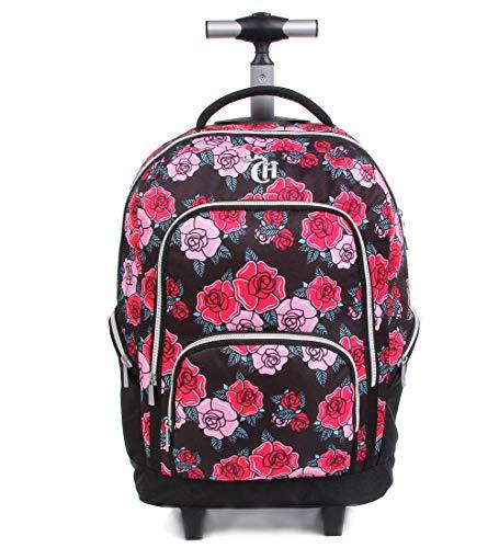 Mochila Escolar G com Rodinhas, DMW Bags, 11325, Colorida