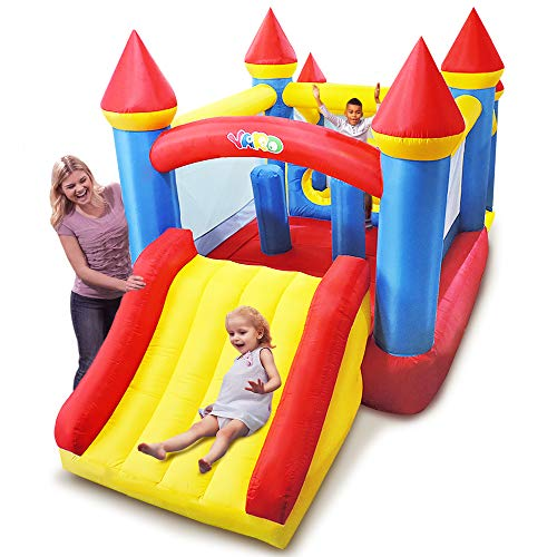 YARD Inflatable Bounce House with Ball Pit Tunnel Obstacle Air Blower Bouncy House for Kids Party Play House Jumping Castle