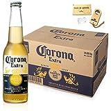 ビール コロナ・エキストラ ボトル 355ml×24本【木製ボトルオープナー小付】