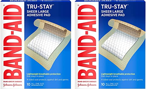 Adhesive Pads, Large Sterile Bandages for Wound Care, Large Size, 2 Pack of 10 ct