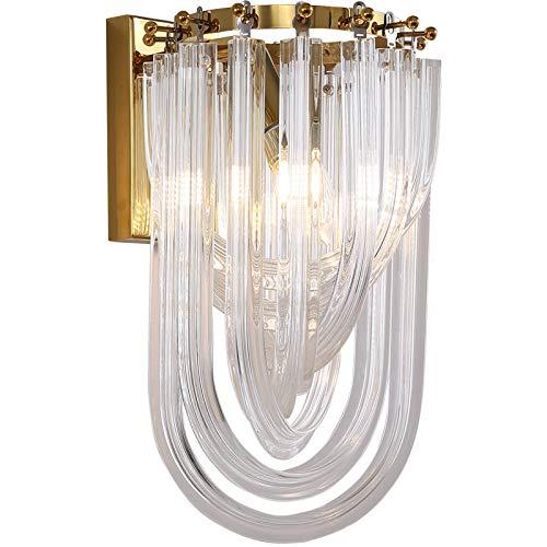 Wandlamp, heldere luxe artoon woonkamer slaapkamer achtergrond wandlamp ontwerp gepersonaliseerde kristallen boog-hallwandlamp