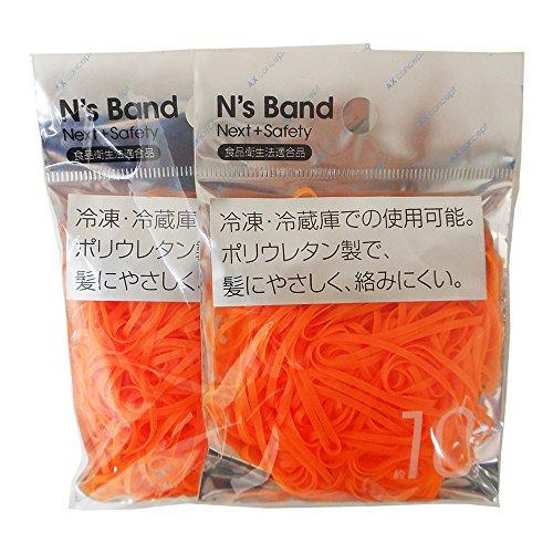 エヒメ紙工 輪ゴム Ns Band 蛍光オレンジ ポリウレタン 2袋セット A-NB-O×2P [2023]