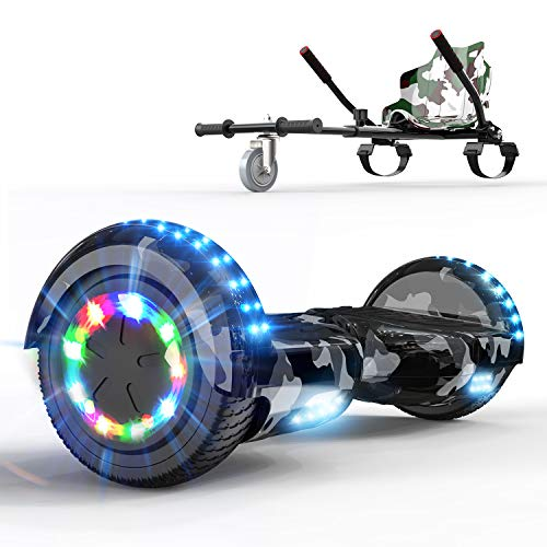 COLORWAY Self Balancing Scooter Hoverboards 6.5'' - Electric Scooter Off-Road - Bluetooth Speaker LED lights Gift for Kids and Adults