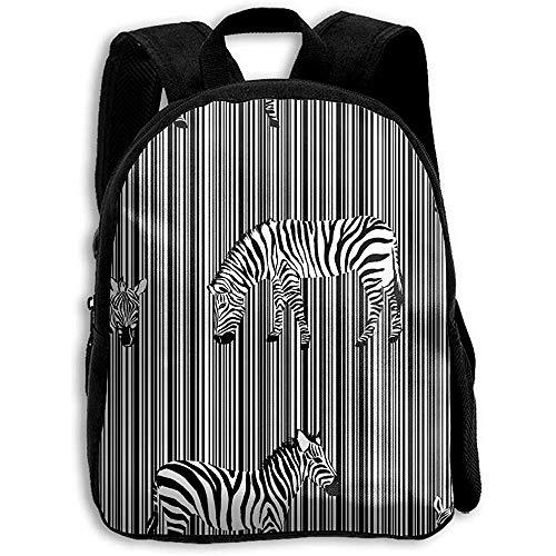 Rugzak Exotic Animal Zebra Daypack Schoudertas Kinderen Rugzak Bookbag Print School Casual Jongens Meisje