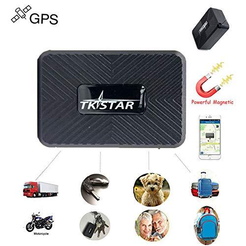 TKSTAR Mini GPS Tracker Portatile GPS Tracking Anti Perdita GPS Locatore per Portafoglio Borsa Portafoglio per bambini Cartelle importanti Documenti Auto Verloren Finder con APP (TK913:1500mA)