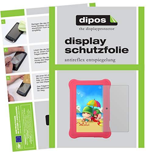 dipos I 2X Schutzfolie matt kompatibel mit Alldaymall A88SK 17,8 cm (7 Zoll) Folie Displayschutzfolie