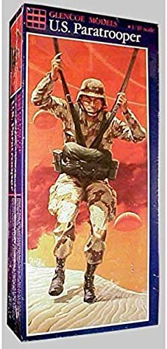 Glencoe Models 1 10 Scale Paratrooper Figure with US and French Options by Glencoe Models