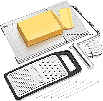 Professional Stainless Steel Cheese Slicer Board with Wire Cutter