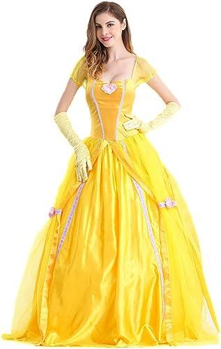 LVLUOYE Halloween Queen Uniform, Beauty and The Beast Cosplay Bell Princess Dress, Stage Performance Kostüm,XXL