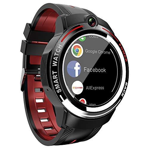 JIANGHONGYAN Rastreadores de Actividad Lokmat Appllp 3 1,39 Pulgadas de Pantalla AMOLED Cameras Dual Watch Smart, Soporte Llamada de Video/Monitor de Ritmo cardíaco/Música, 1G + 16GB