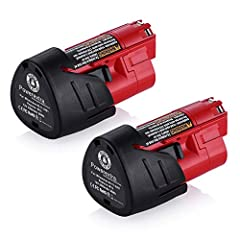 2 Pack Replacement batteries for Milwaukee M12 48-11-2411 LITHIUM 12-Volt Cordless Tools Brand New | Li-ion | 12 Volts | 3000 mAh. Integrated microchip prevents overcharging & lengthens battery life. 100% Compatible with12V MILWAUKEE M12 Battery. All...