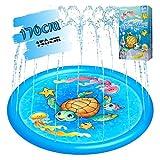 噴水マット Pemoko 噴水プール 水遊び 噴水 芝生遊び 噴水おもちゃ 親子遊び プール 170cm直径 夏の日 暑さ対策 PVC ブルー