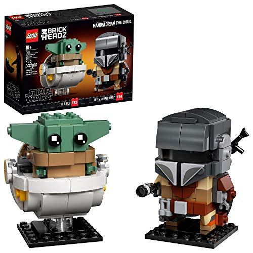 LEGO BrickHeadz Star Wars The Mandalorian & The Child 75317 Building Kit, Toy for Kids and Any Star...
