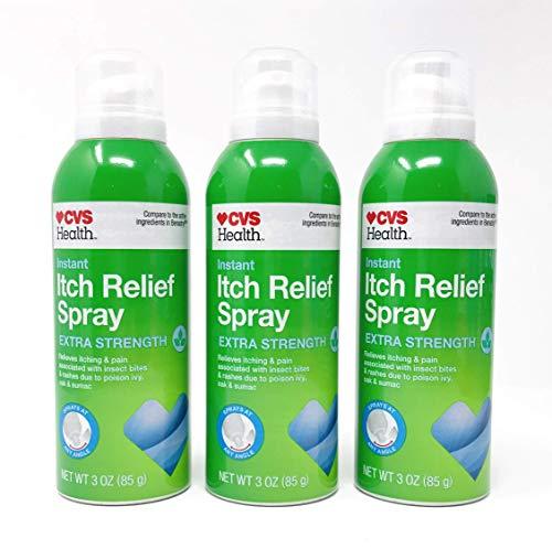 CVS Instant Itch Relief Spray Extra Strength 3 Oz (3 Pack)