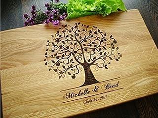Personalisiertes Schneidebrett Handgefertigt mit Apfelbaum. Frühstücksbrettchen