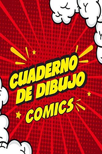 Cuaderno de Dibujo Comics: Libreta para practicar dibujos estilo comics o manga, 6 x 9 in, 120 pp, papel blanco con recuadros tipo historieta