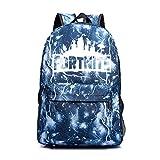 Enorme Almacenamiento de Viaje Escolar al Aire Libre Senderismo Escalada Mochila Luminosa Ideal Versátil Bolso de Hombro Luminoso para Estudiantes (Lightning Blue)