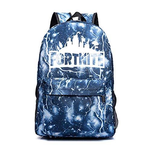 CestnYuun Leuchtend Schule Reise Draussen Rucksack Ideal Vielseitig Schulter Tasche Rucksack zum Männer Frau Viel von Aufbewahrungstasche (Lightning Blue)