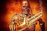 Puzzles Adultos 1000 Piezas Rompecabezas Terminator: Póster De Personaje De Película De Juegos...