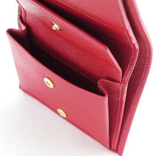 [プラダ]折財布二つ折り型押しレザーフォーコ1MV204QWAF068Z/SAFFIANOMETALFUOCO[並行輸入品]