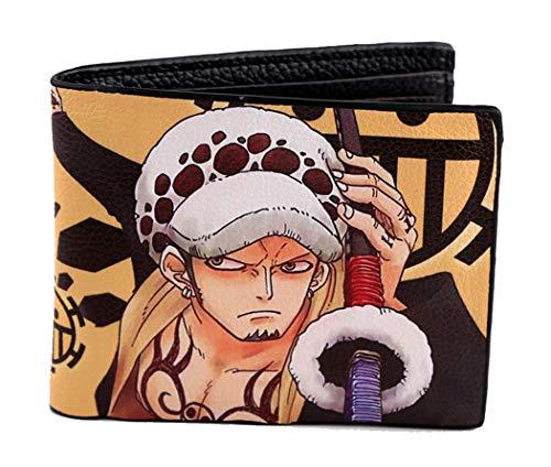 Cosstars One Piece Trafalgar Law Anime Bild Gedruckt Herren Brieftasche Bifold Geldbörse 6 Steckplätze Geldbeutel
