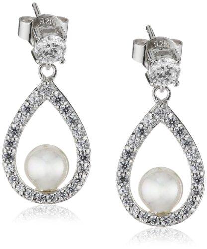 Diamonfire Damen-Ohrhänger 925 Sterling Silber Zirkonia Bridal Linie weiß 62/1487/1/111