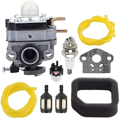 Fuel Li 753-06258A Carburetor for Ryobi RY251PH RY253SS RY252CS RY254BC 2 Cycle 25cc Engine Cultivator String Trimmer Edger with 560873001 Air Filter Tune-Up Kit
