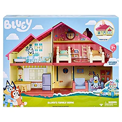 "Bluey Family Home Playset with 2.5"" poseable Figure from Moose Toys"
