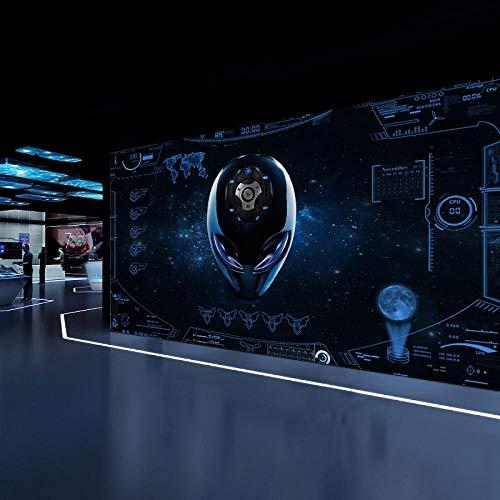 MGQSS Foto Wallpaper Wandgemälde Tech Alien 3D Selbstklebend Retro Industriestil Thema Poster modern Kunst Mauer Dekoration Persönlichkeit Graffiti Stil Einfachheit Poster(B)300x(H)210 cm