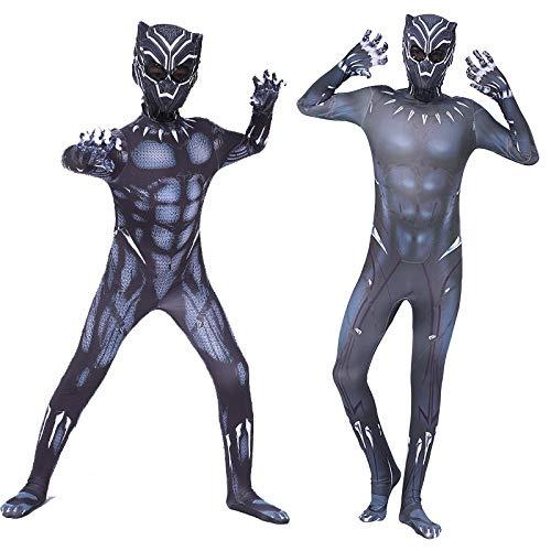 WSJYP Traje Negro/Pantera Mostrar Ropa Cos Boy Hero Avengers Iron Man,180code