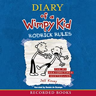 Rodrick Rules     Diary of a Wimpy Kid              Written by:                                                                                                                                 Jeff Kinney                               Narrated by:                                                                                                                                 Ramone de Ocampo                      Length: 2 hrs and 8 mins     7 ratings     Overall 4.6