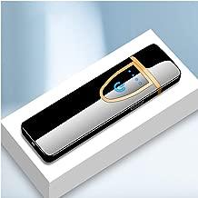 JJ.Accessory Smart Touch Induction - Mechero electrónico Ultrafino Recargable con USB para Fumadores de Cigarrillos